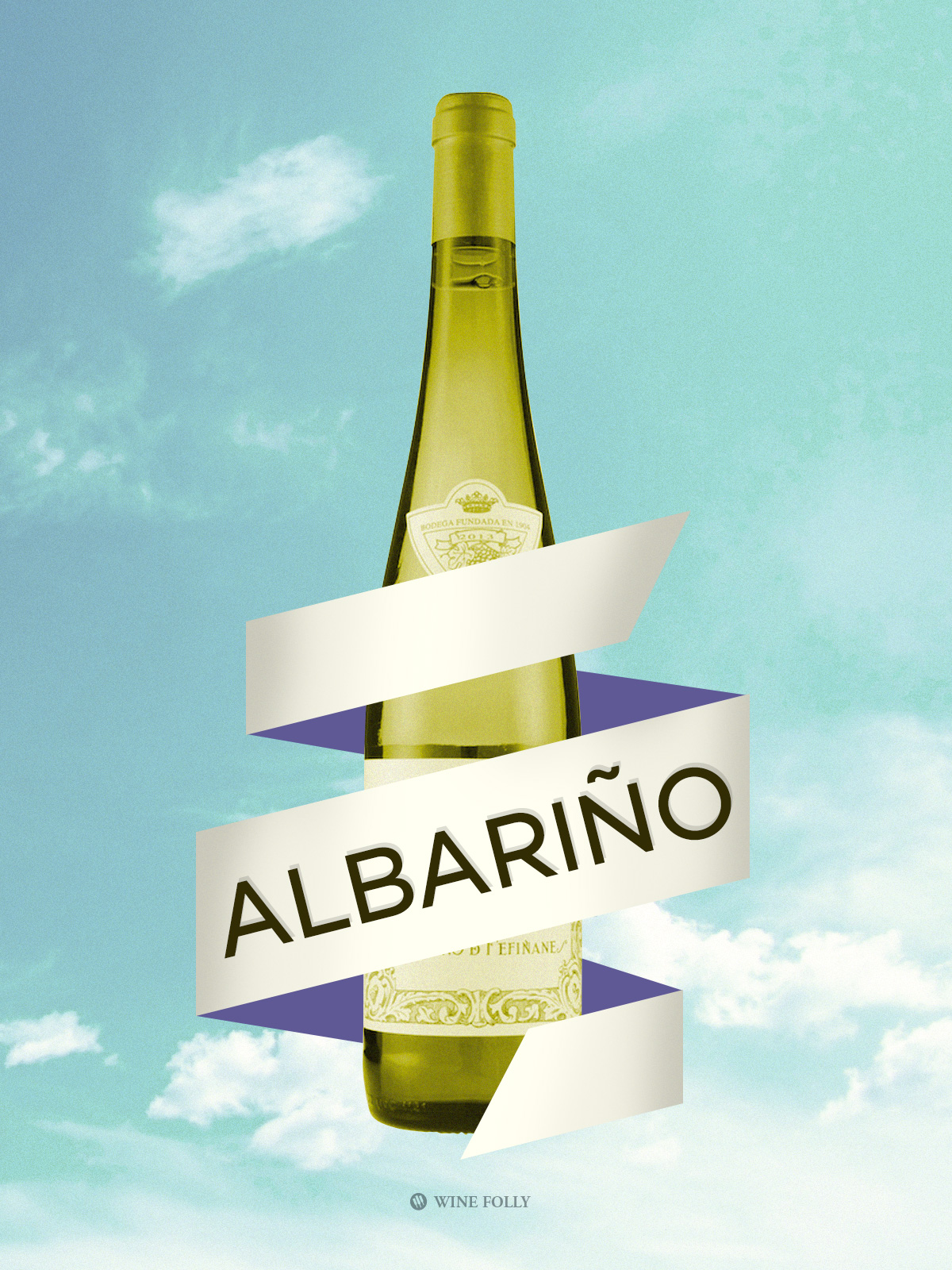 Albariño wine from Spain illustration by Wine Folly