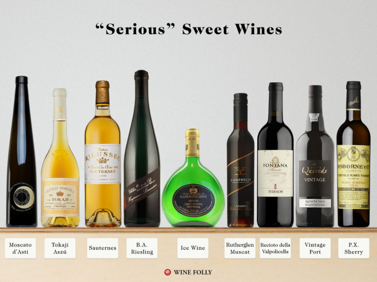 The best sweet wines for people who are serious about sweet wine