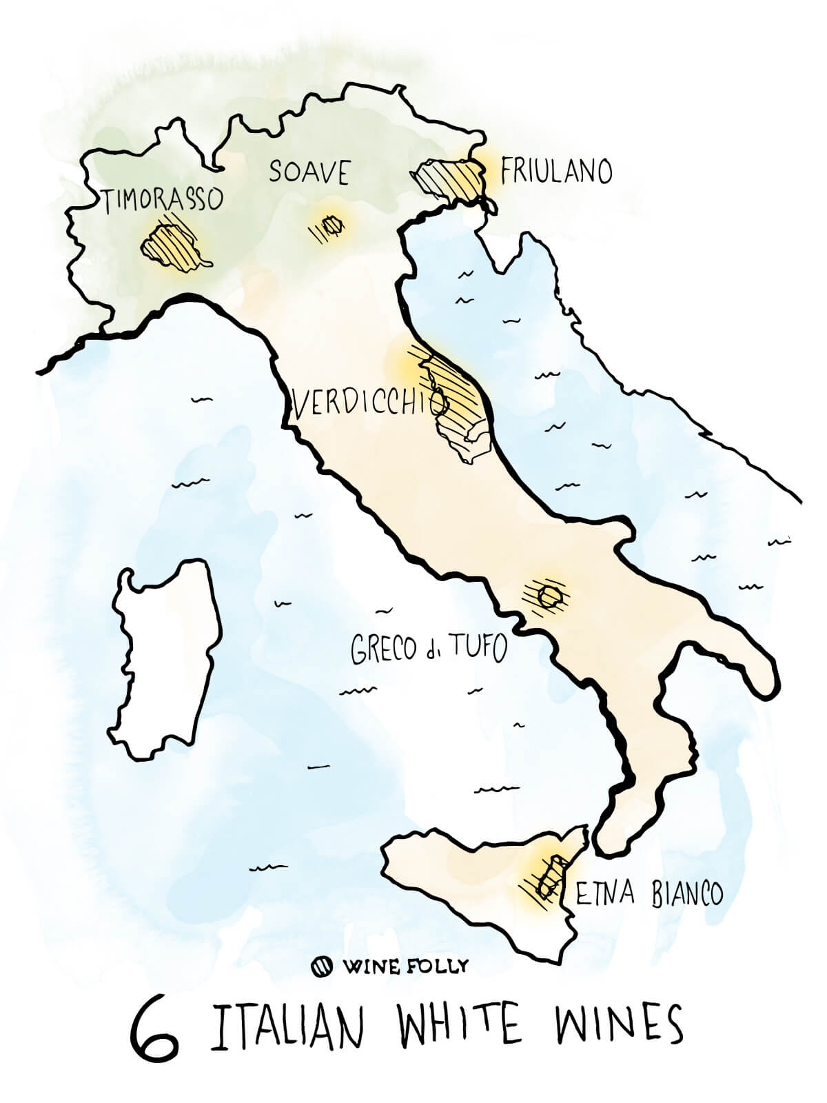6-italian-white-wines-to-know-map-illustration-winefolly