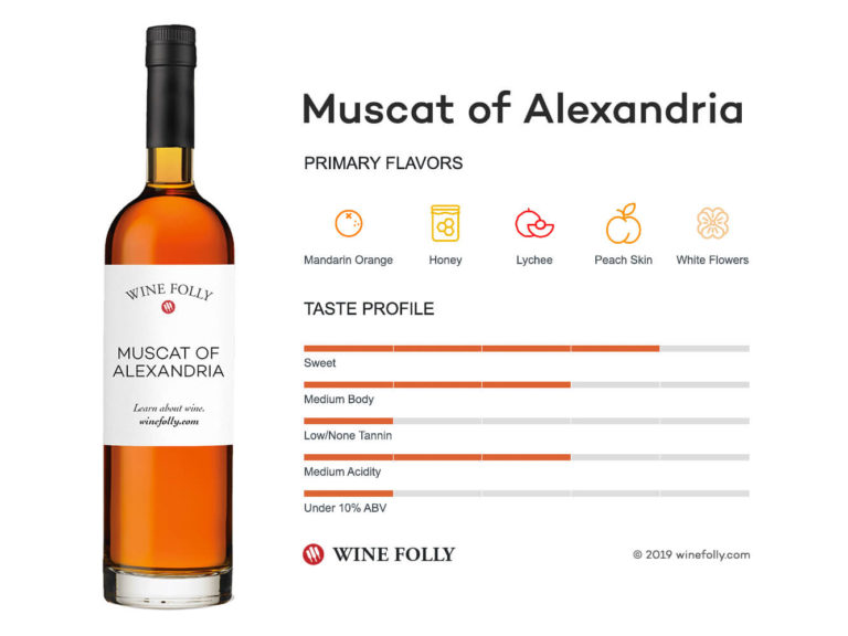 Muscat of Alexandria Bottle and Wine Tasting Notes - Wine Folly