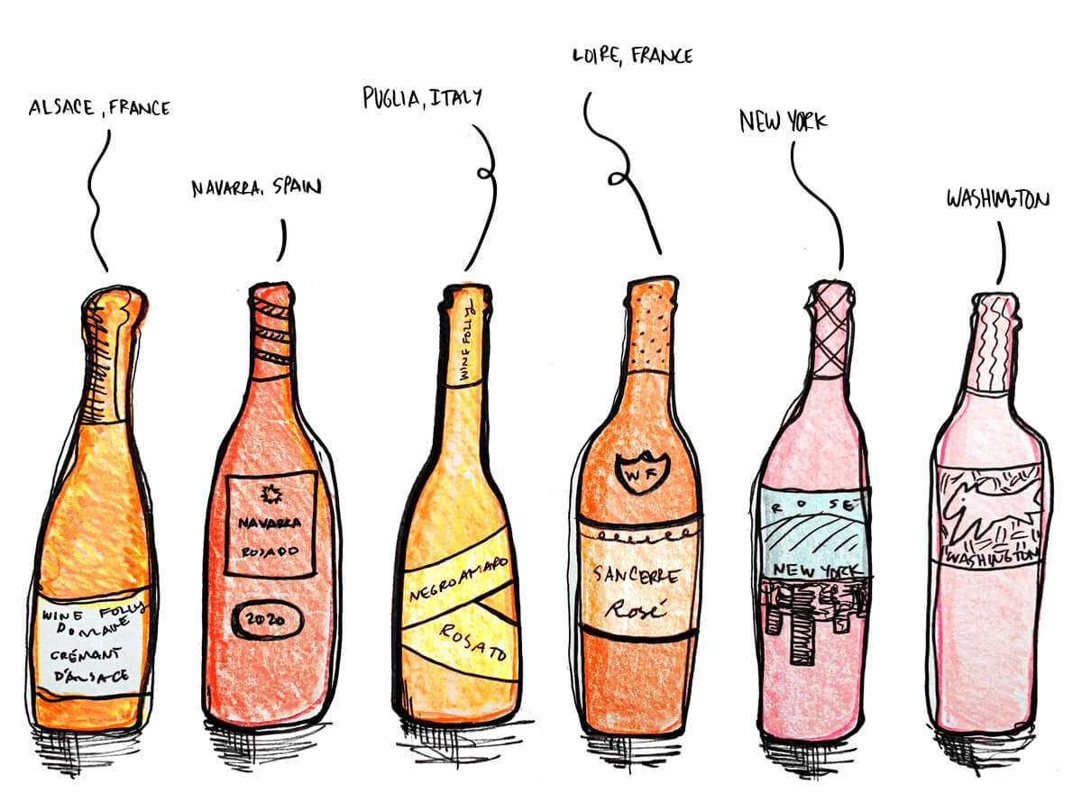 rose-wines-from-6-countries-illustration-winefolly