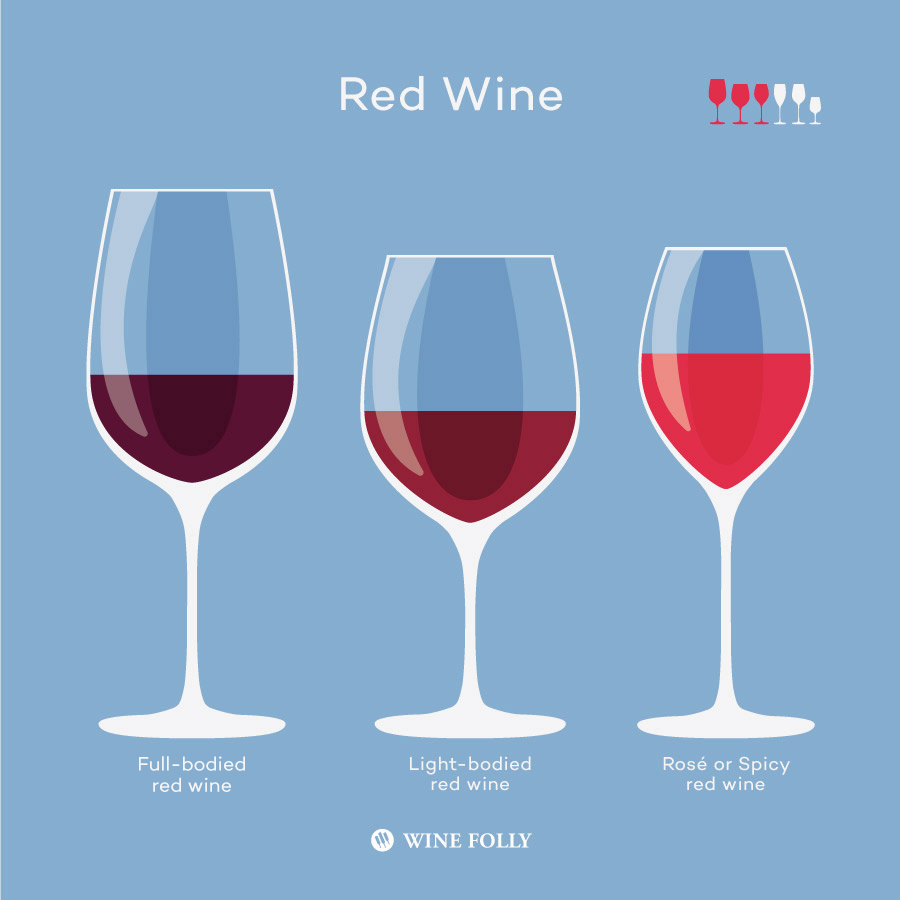 Different types of red wine glasses to consider by Wine Folly