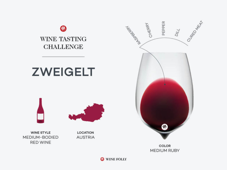 Infographic about Zweigelt Wine