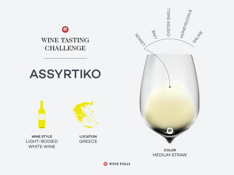 Wine summary of Assyrtiko with flavor